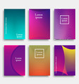 set trendy cover design with geometric line vector image vector image