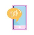 smartphone idea speech bubble creativity isolated vector image