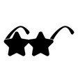 star sunglass icon black color fill flat style vector image vector image