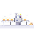 technology and packing concept in flat style vector image vector image