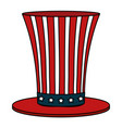 united states of asmerica hat vector image vector image
