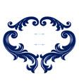 vintage emblem border frame background vector image vector image