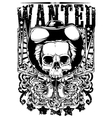 Wanted Skull vector image vector image