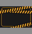 warning or caution tape on black background vector image vector image