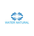 water natural logo vector image