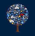 weather tree icon concept for season climate vector image