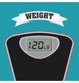 weight measure vector image vector image