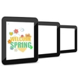 Welcome Spring Holiday Card Welcome Spring vector image vector image