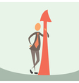 businessman and arrow of success vector image