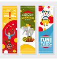 Funfair banners vector image