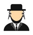 Rabbi flat icon vector image