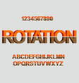 3d rotation font design for typography vector image vector image