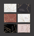a series of designs with gold lines on white vector image