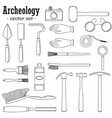 a set of for archeologists vector image