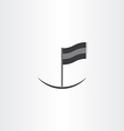abstract black flag icon vector image vector image