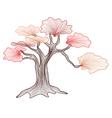 abstract bonsai tree vector image