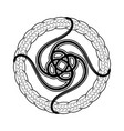 abstract celtic print or tattoo design vector image vector image
