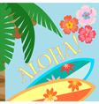 Aloha palm vector image vector image