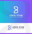 b logob letter design modern monogram icon vector image vector image