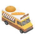 bakery truck icon isometric style vector image vector image