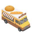bakery truck icon isometric style vector image