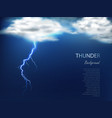 banner with clouds and charge of lightning vector image vector image