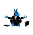 blue donkey democrat meditating symbol of usa vector image vector image