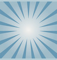 blue sunburst pattern vector image