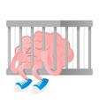 brain in prison vector image