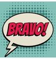 Bravo comic book bubble text retro style vector image vector image