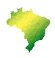 Brazil abstract polygonal map vector image