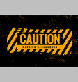 caution warning background with yellow and black vector image vector image