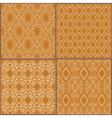 Ceramic tile pattern golden yellow vector image