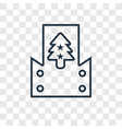 christmas card concept linear icon isolated on vector image vector image