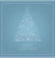 christmas tree with hand drawn xmas elements vector image
