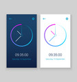 clock mobile app concept ui design day and night vector image vector image