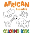 Coloring book with african animals vector image vector image