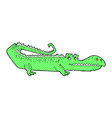 comic cartoon crocodile vector image vector image