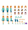 cute women with many poses various head various vector image