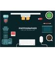 desk header vector image vector image
