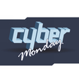 Digital cyber monday sale banner design vector image vector image