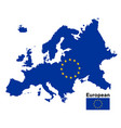 european flag map on a white background vector image