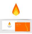 fire flame logo icon flat cartoon vector image vector image