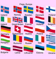 flags of europe norway iceland finland ireland vector image