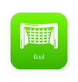 goal soccer icon green vector image vector image