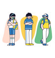 going on vacation together concept doodle vector image vector image