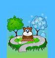 greeting card on groundhog day vector image