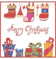 greeting christmas card vector image vector image