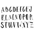 handwritten lettering font aphabet on white vector image