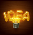 idea bulb vector image